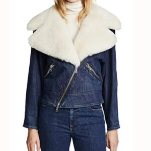 Pretty Little Liars Ava Jalali Shearling Denim Jacket