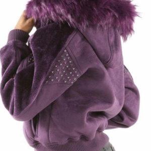 Purple Pelle Pelle Queen of Thrones Shearling Jacket