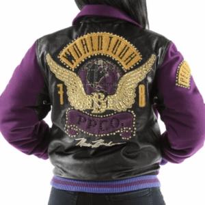 Purple Pelle Pelle World Tour Bomber Jacket