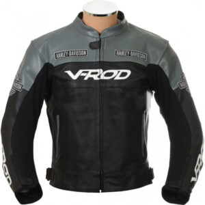 V Rod Harley Davidson Motorcycle Racing Leather Jacket
