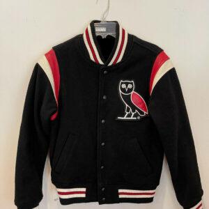 Vintage Black Owl Varsity Letterman Jacket