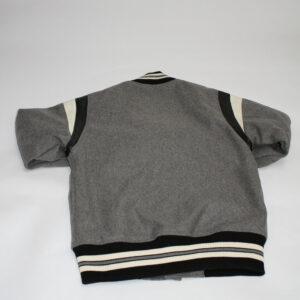 Vintage Grey Owl Varsity Letterman Jacket