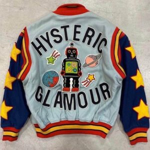 Vintage Hysteric Glamour Atomic Robot Varsity Jacket