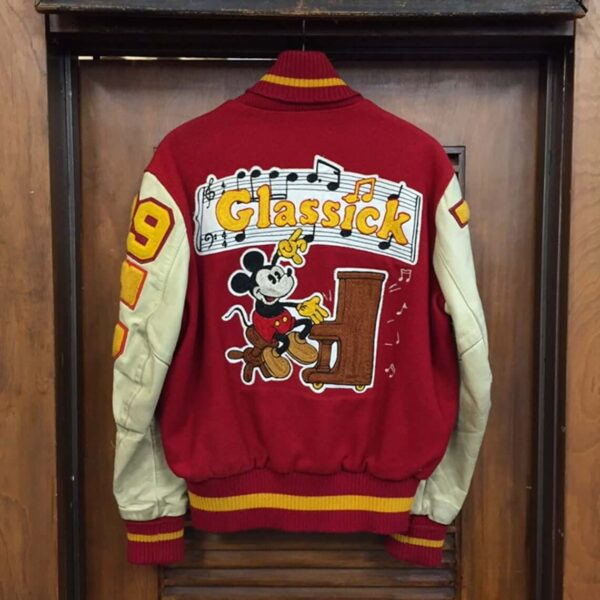 Vintage Mickey Mouse Music Athletic School Jacket