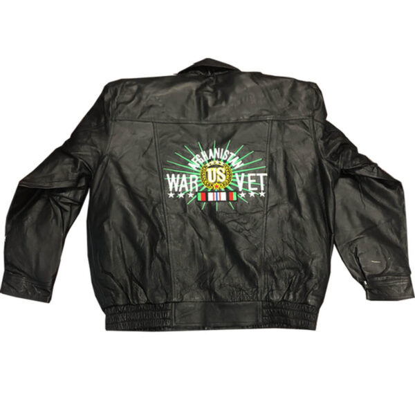 Afghanistan War Veteran Leather Bomber Jacket