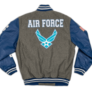 Air Force Wings Logo Above All Varsity Jacket