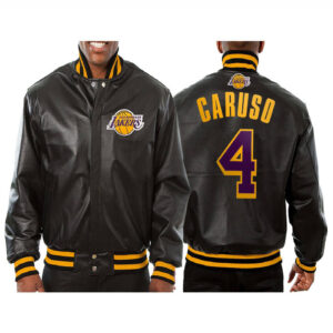 Alex Caruso Los Angeles Lakers Leather Jacket