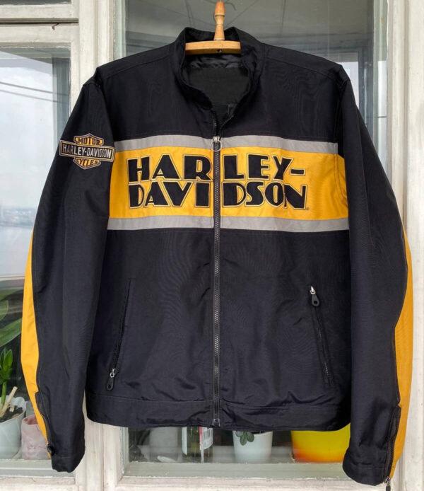 Black Harley Davidson Motorcycle Vintage Riding Jacket