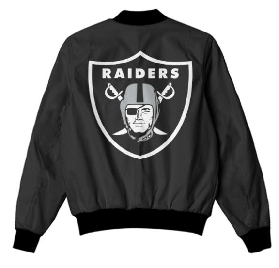 Black Las Vegas Raiders Letterman Varsity Jacket