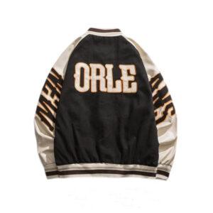 Black Los Angeles Bomber Varsity Jacket