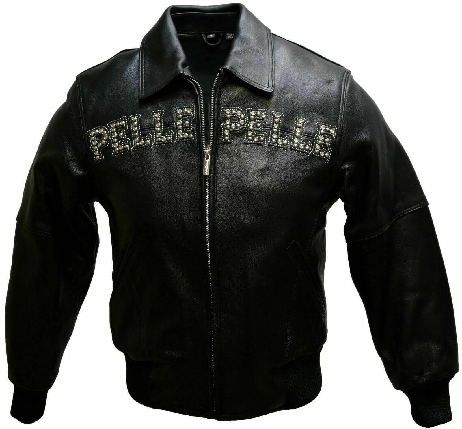 Black Pelle Pelle Pride Studded Leather Jacket