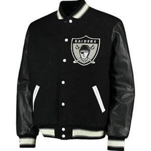 Black Raiders Letterman Varsity Jacket