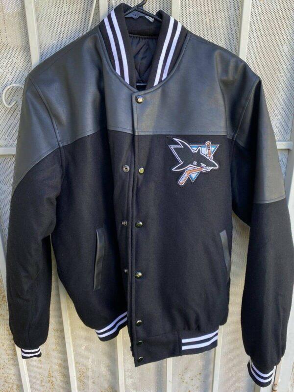 Black San Jose Sharks Varsity Jacket
