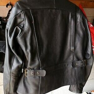 Black Triumph Motorcycle Racing Leather Jacket