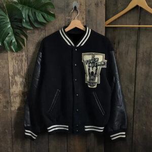 Black Van Jac Letterman Varsity Jacket