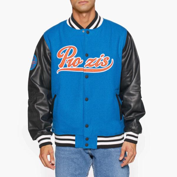 Blue Black Prozis Baseball Varsity Jacket