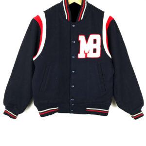 Blue Macbeth MB Wool Varsity Jacket