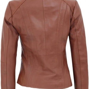 Brown Cafe Racer Leather Jacket