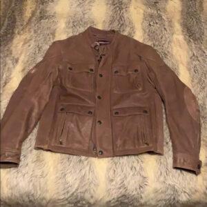 Brown Indian Motorcycle Racing Leather Jacket