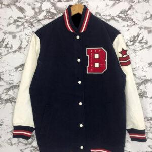 Browny Embroidery Varsity Baseball Jacket