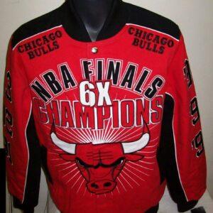 Chicago Bulls 6 Time NBA Cotton Jacket