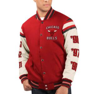 Chicago Bulls 6 Time NBA Finals Varsity Jacket