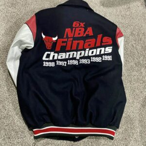 Chicago Bulls 6x Champion NBA Finals Varsity Jacket