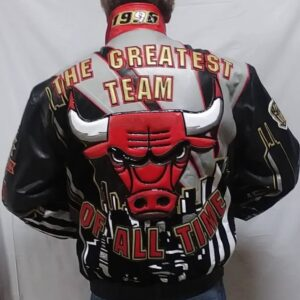 Chicago Bulls The Greatest Team Leather Jacket