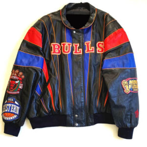 Chicago Bulls Three Peat Jeff Hamilton Leather Jacket