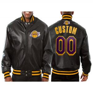 Custom Los Angeles Lakers Leather Jacket