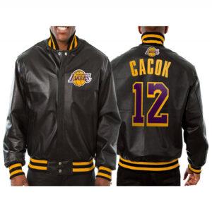 Devontae Cacok Los Angeles Lakers Leather Jacket