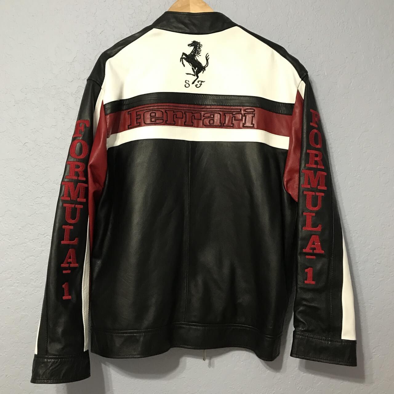 Ferrari Formula One Motorcycle Leather Jacket
