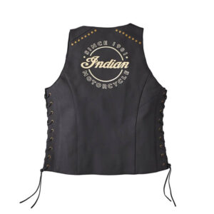 Indian Motorcycle Black Leather Vest
