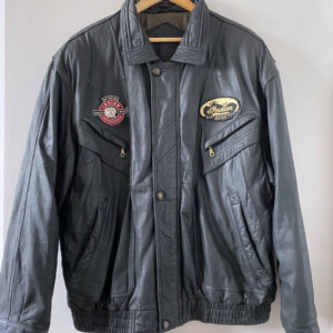 Indian Motorcycle Riding Black Leather Jacket