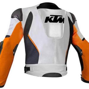 KTM Racing White And Black Motorcycle Jacket KTM Racing White And Black Motorcycle Jacket KTM Racing White And Black Motorcycle Jacket