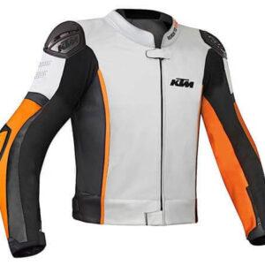 KTM Racing White And Black Motorcycle Jacket