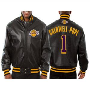 Kentavious Caldwell Pope Los Angeles Lakers Leather Jacket