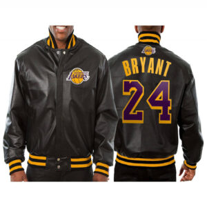Kobe Bryant 24 Los Angeles Lakers Leather Jacket