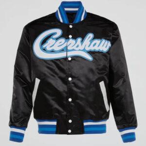 Kobe Bryant Black Crenshaw 24 Satin Jacket