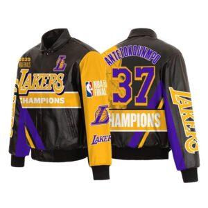 Kostas Antetokounmpo Los Angeles Laker Leather Jacket
