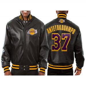 Kostas Antetokounmpo Los Angeles Lakers Leather Jacket