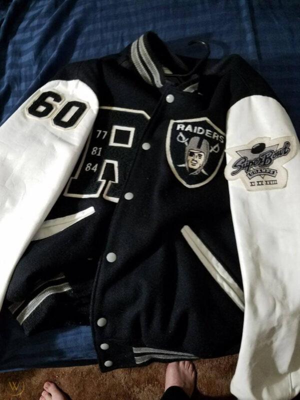 Las Vegas Raiders Letterman Black Varsity Jacket