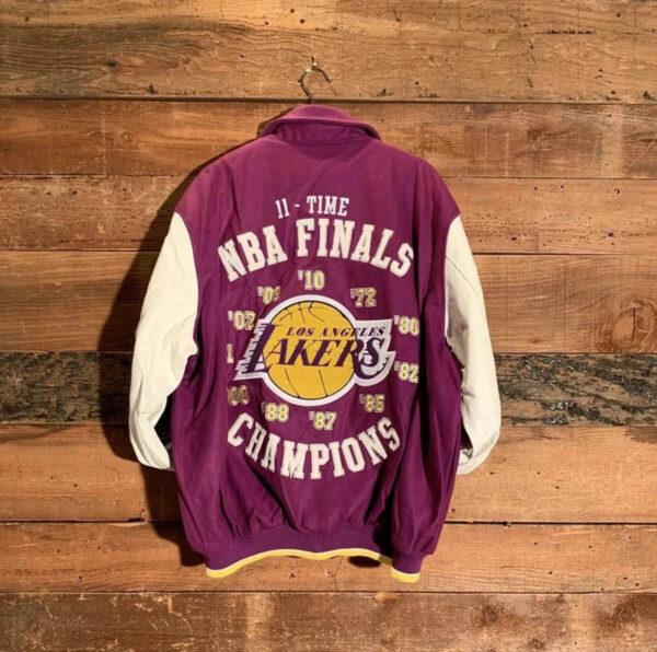 Los Angeles Lakers 11x Finals Champions Varsity Jacket