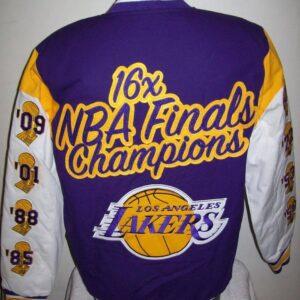 Los Angeles Lakers 16x Finals Champions Cotton Jacket