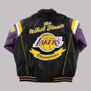 Los Angeles Lakers 16x Finals Champions Leather Jacket