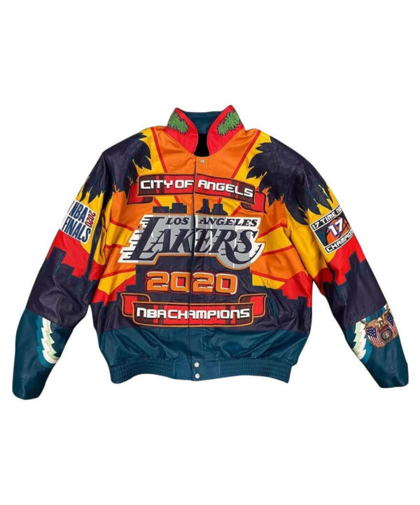 Los Angeles Lakers 17x Finals Champions Leather Jacket
