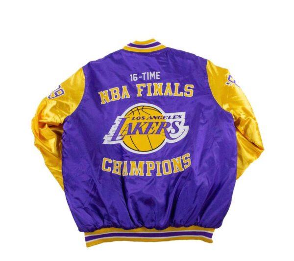 Los Angeles Lakers Champions 16x Finals Satin Jacket
