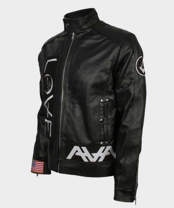 Love Cafe Racer Black Leather Jacket