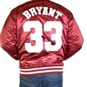 Lower Merion Kobe Bryant Maroon Satin Jacket