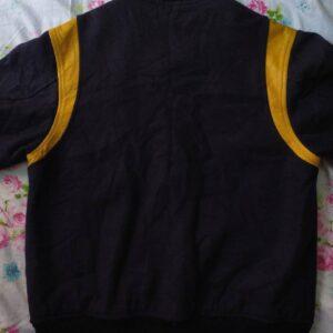 Macbeth MB Black Yellow Varsity Baseball Jacket